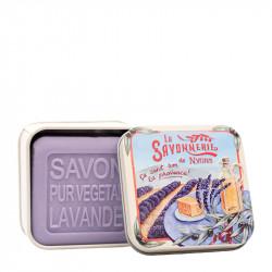 BOITE METAL LAVANDE ET SON SAVON - SAV72002