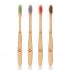Multi colour bamboo toothbrush set - MWS80006
