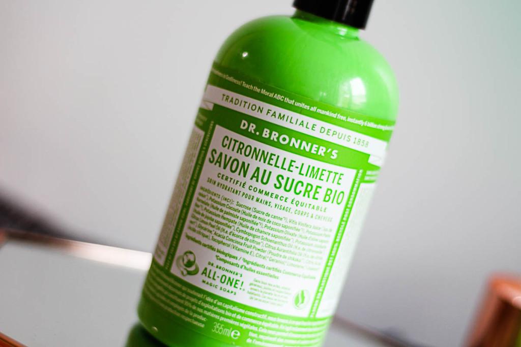 Savon au Sucre Bio Citronnelle-Limette Dr Bronner's